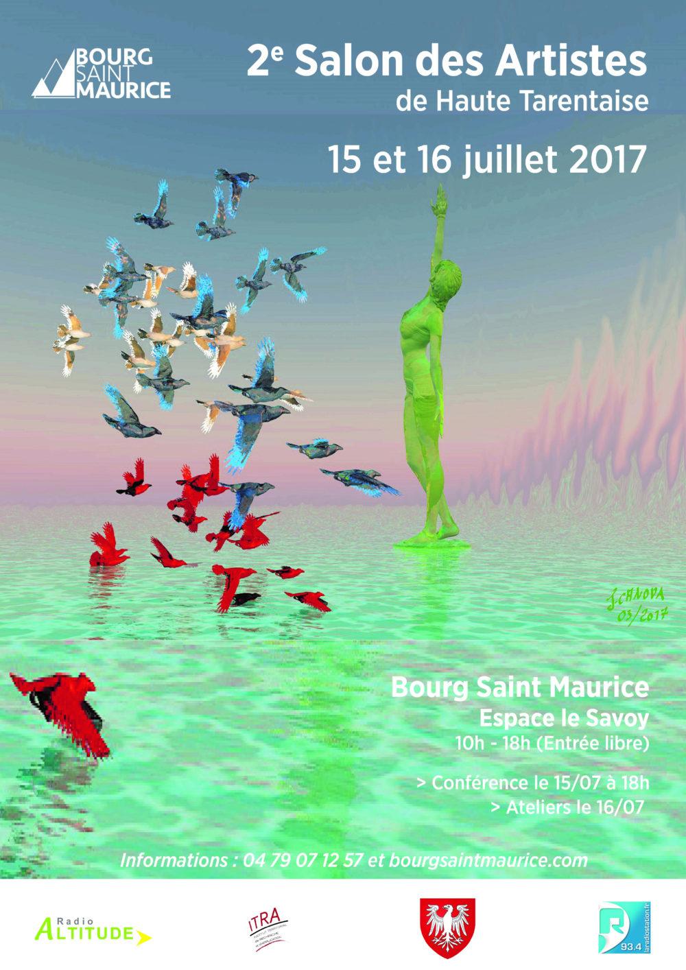 Affiche deuxième salon des artistes de Haute Tarentaise - Atelier Mucyol