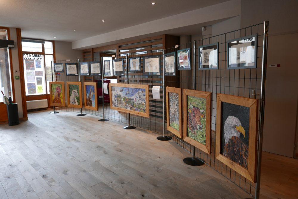 Exposition office du tourisme de Séez 73700 - Portraits d'animaux - Atelier Mucyol