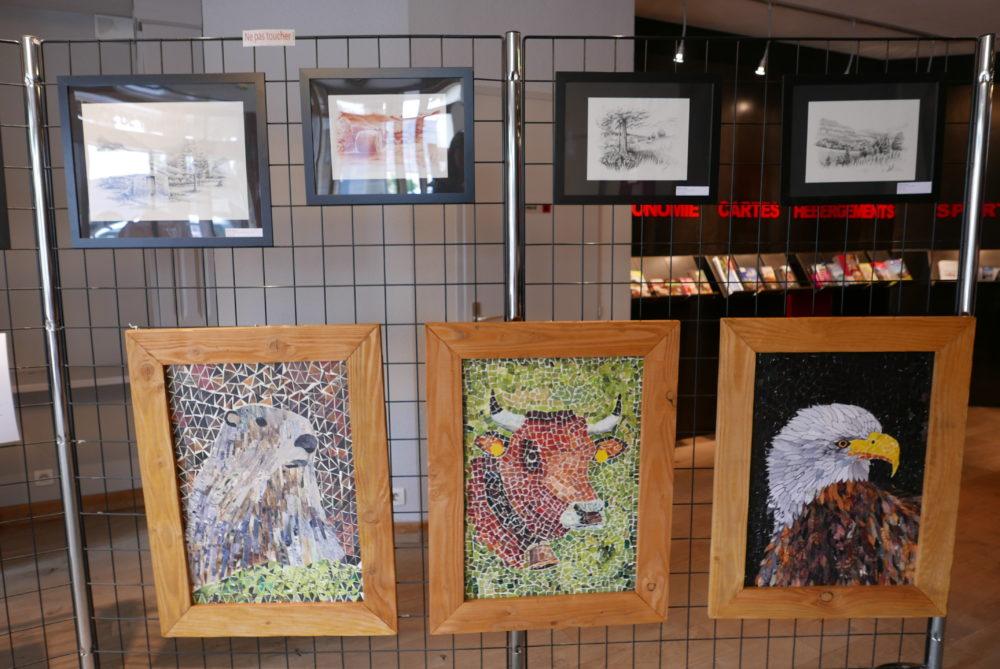 Exposition office du tourisme de Séez 73700 - Dessins d'animaux - Atelier Mucyol