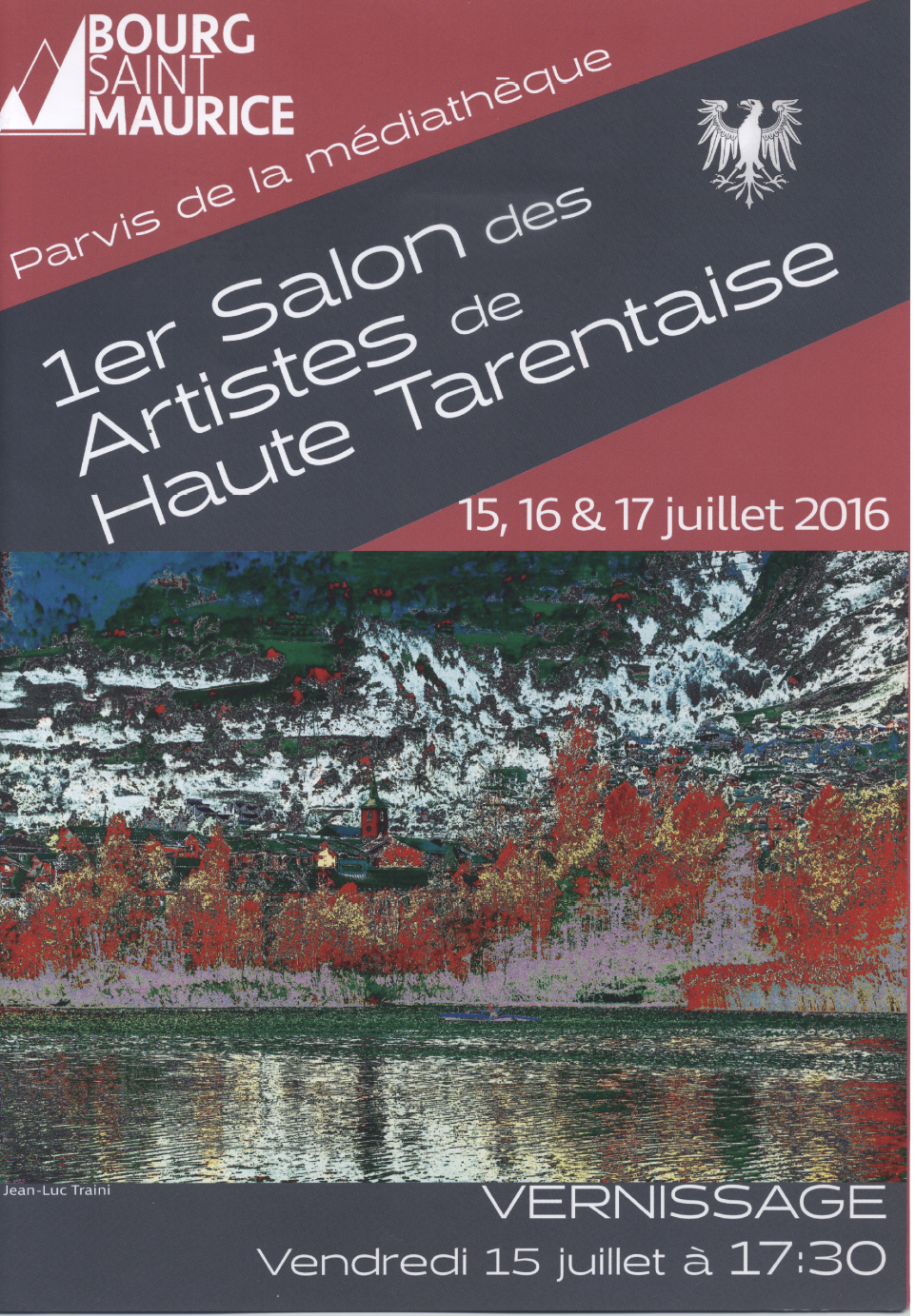 Affiche premier salon des artistes de Haute Tarentaise - Bourg Saint Maurice 73700 - Atelier Mucyol