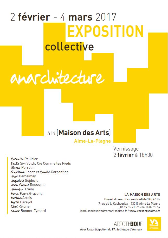 Affiche exposition collective d'architecture - Maison des arts d'Aime 73200 - Atelier Mucyol
