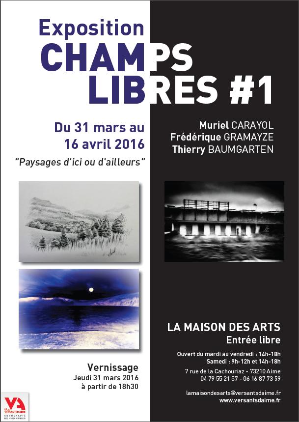 Affiche exposition champs libres - Maison d'art d'Aime 73200 - Atelier Mucyol