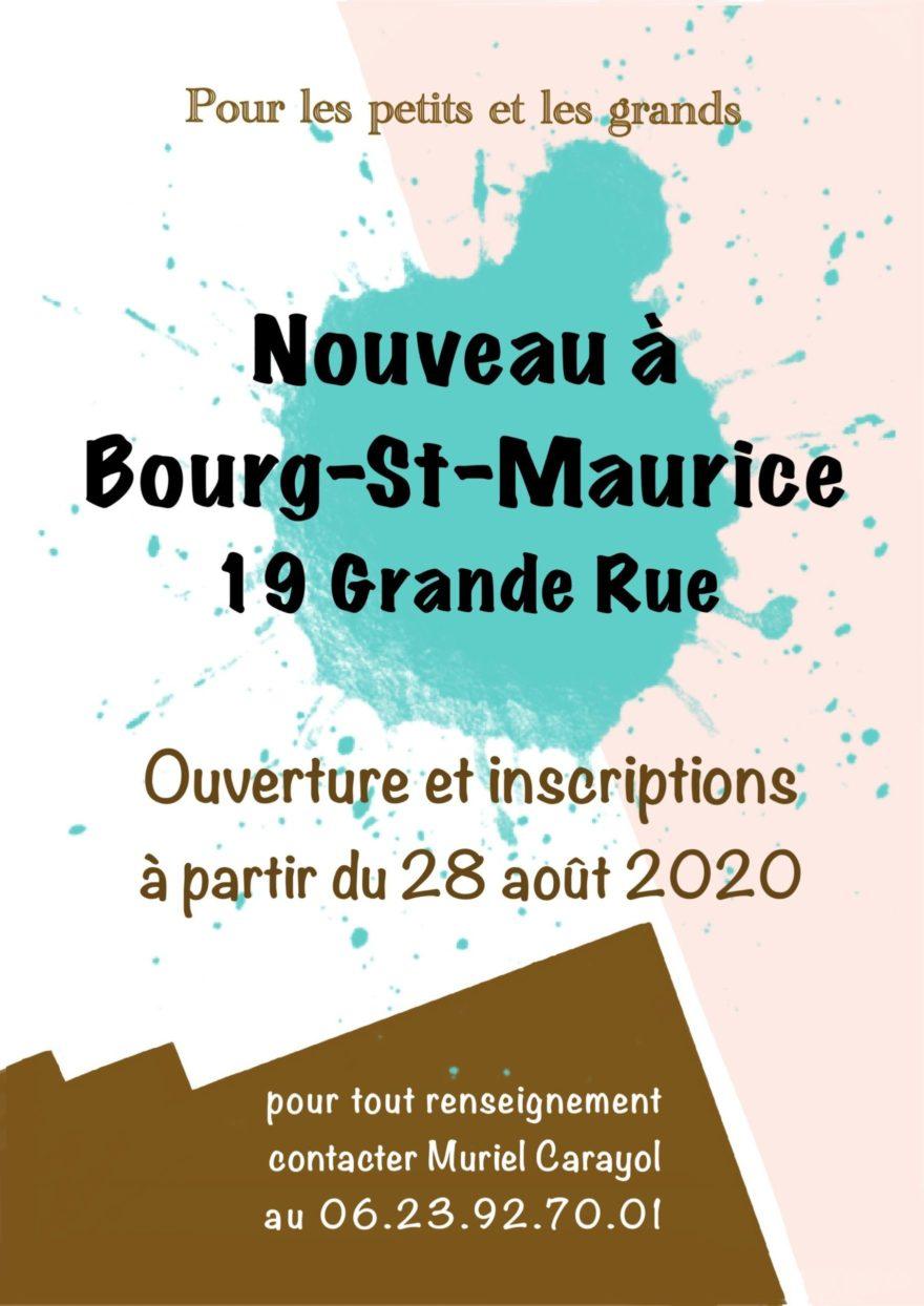 Affiche cours de dessins à Bourg Saint Maurice - Atelier Mucyol
